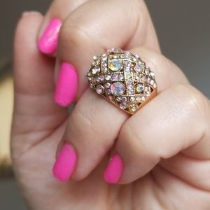 Fashion Rhinestone Gold Ring